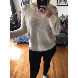Tobi Cold Shoulder Sweater